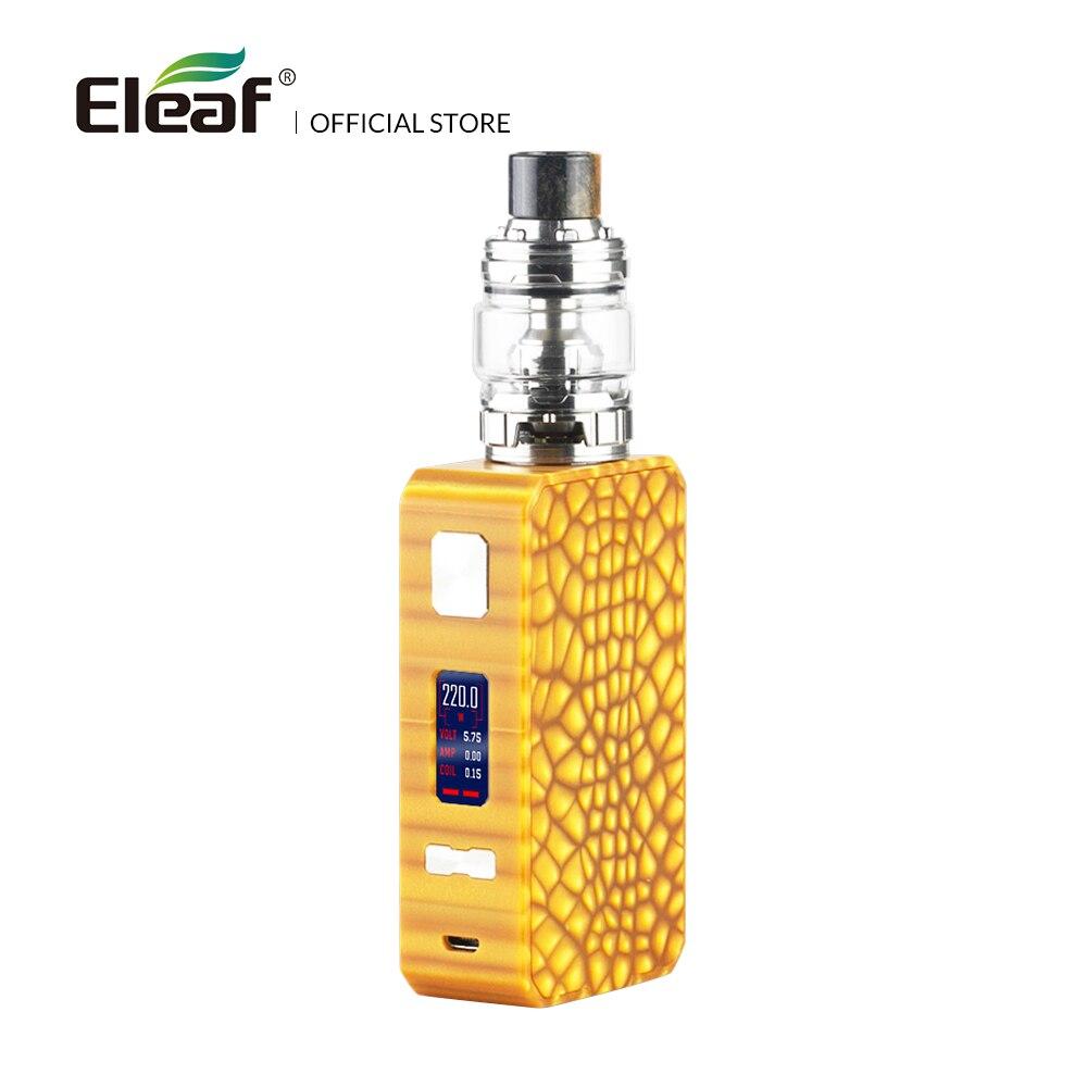 Original Eleaf Saurobox with ELLO Duro kit 6.5ml with HW-N/HW-M coils 220W max no dual 18650s electronic cigarette цена