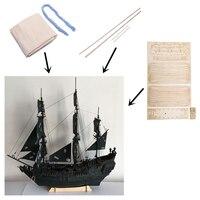 1/96 Black Pearl ship kit 3d Laser Cut Diy model Black Pearl Wood Model ship Kit Train Hobby Scale Wooden Ship Model Kit