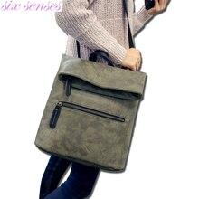 Six senses Женщины искусственная кожа рюкзак искусственная кожа Мода Рюкзак для Девочки Школа Рюкзак сумки на ремне, рюкзак mochila XD3893