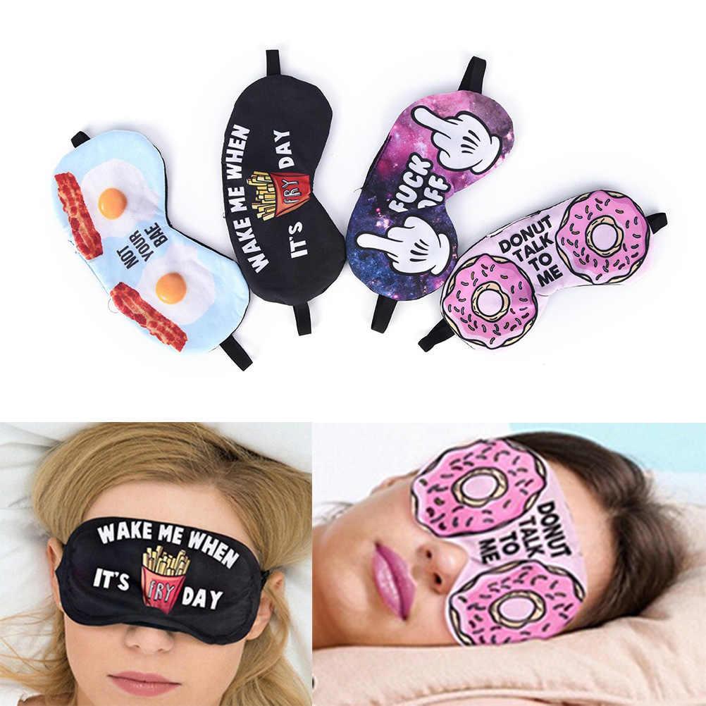 138c33b044f 1PCS 3D Printing Eye Sleep Masks Sleeping Eye Mask Lovely Eye Care Shade  Blindfold Sleep Mask