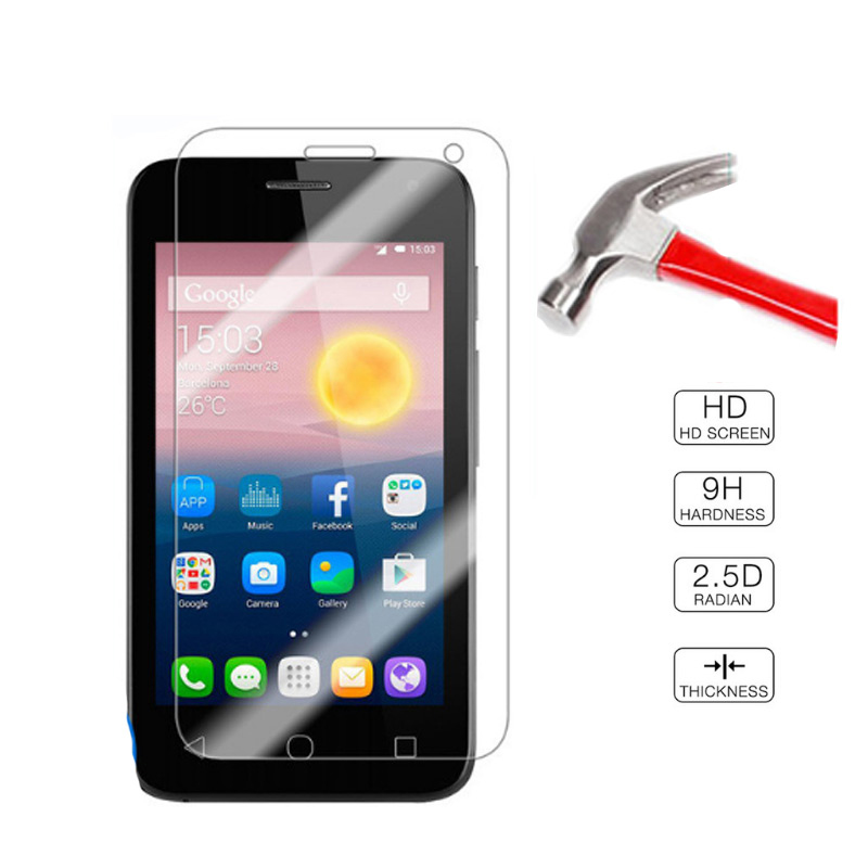 2PCS Tempered Glass For Alcatel One Touch Pixi First 4024 4024D 4024X 4.0