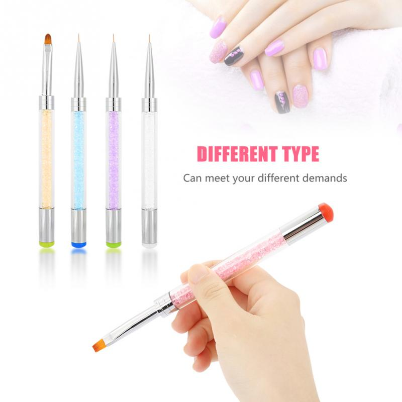 Double Headed Nail Art Liner Brush Painting Pen Nail Beauty Pen Nail Beauty Manicure Brushes Dotting Pen Tool