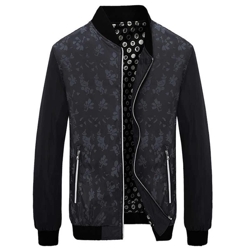 HCXY, брендовый Бомбер с цветочным принтом для мужчин, приталенная куртка с цветочным принтом и пальто, мужские модные куртки с капюшоном больших размеров