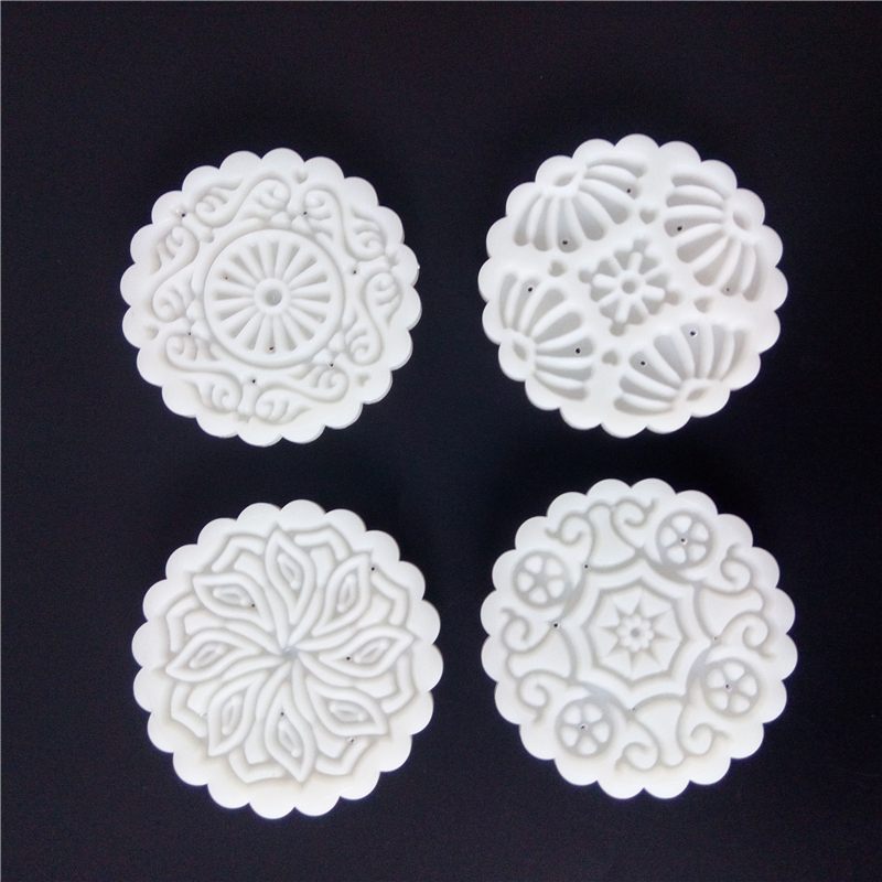 81ea082f3 150 Grams Round Flower Moon Cake Mold Plastic Baking Pastry Tools Mooncake  Mould Hand Press Cake Plungers DIY Kitchen Bakeware-in Baking & Pastry  Tools from ...
