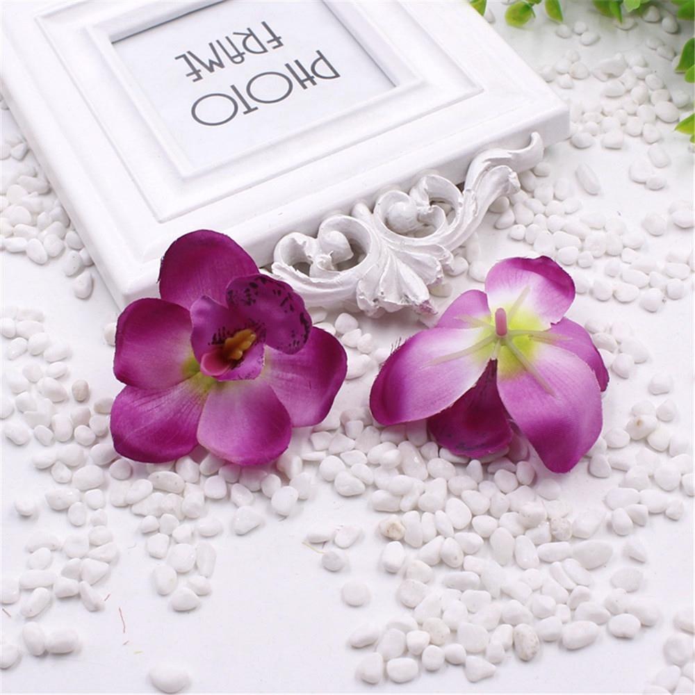 New 20pcs Silk Orchid Artificial Flower Gladiolus For Wedding Car