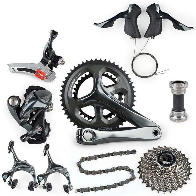 US $337 0 |shimano Tiagra 4700 Road Full Groupset Group 2x10 speed 50/34  52/36 170mm 172 5mm -in Bicycle Derailleur from Sports & Entertainment on