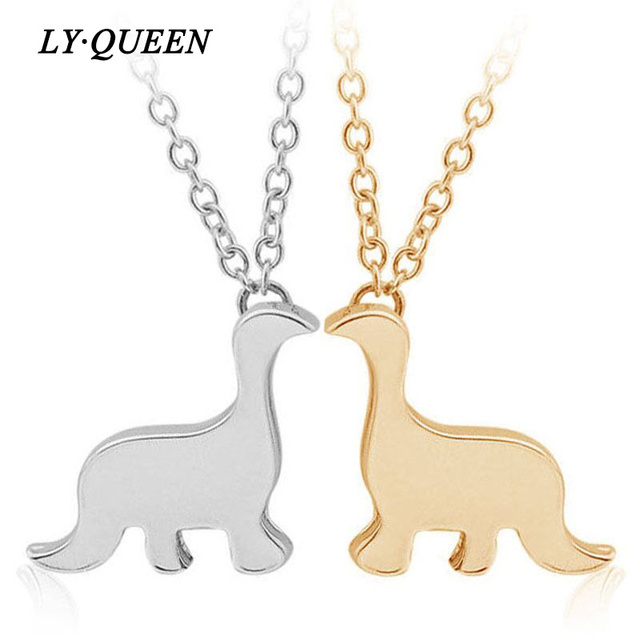 Simple And Creative Cute Little Dinosaur Necklace Sisters Pendants Birthday Gift Fashion Women Jewelry