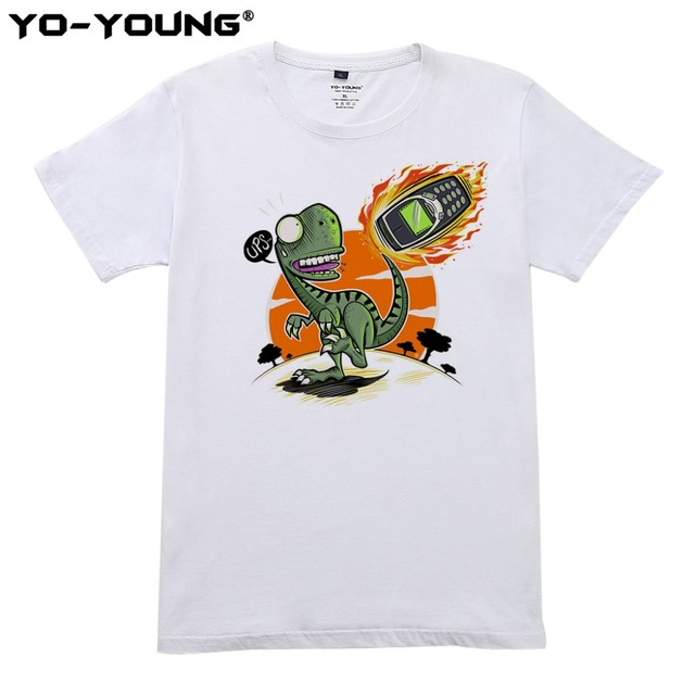 c1e9bfaf9 Camisas engraçadas de T Para Homens A Verdadeira Causa da Extinção dos  Dinossauros Projeto de Impressão