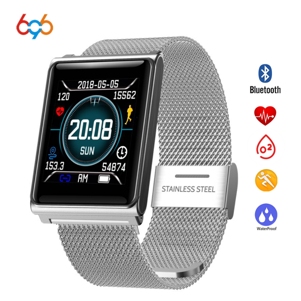 696 N98 Sqaure Fashion Stainless Steel Smart Wristband Fitness Tracker Heart Rate Blood Pressure Monitoring696 N98 Sqaure Fashion Stainless Steel Smart Wristband Fitness Tracker Heart Rate Blood Pressure Monitoring