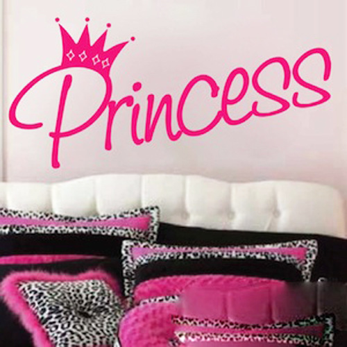 Princess Wall Stickers Removable Baby Girls Bedroom Decoration Wall