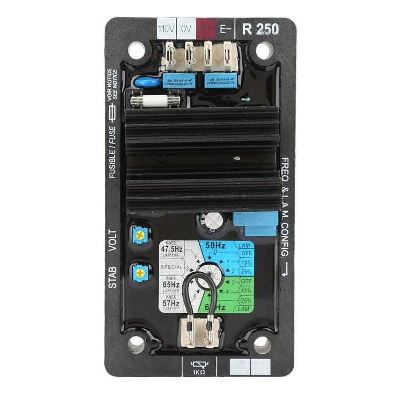 Régulateur de tension, R250 Avr régulateur de tension automatique système de génération sans balais Set accessoires pour des niveaux élevés de Vibrations An
