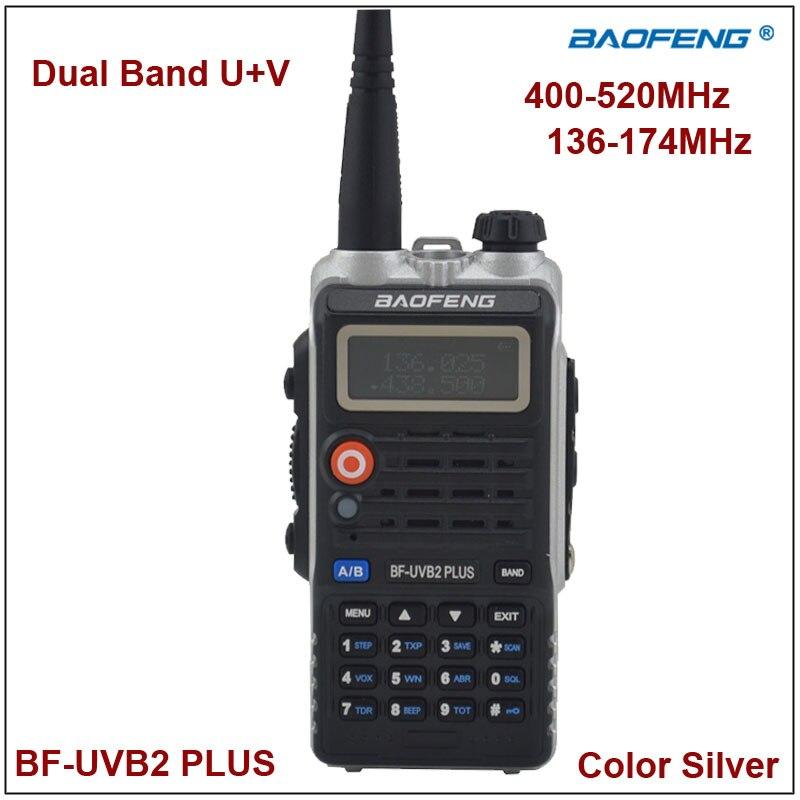 bilder für Baofeng Zweiwegradio BF-UVB2Plus Walkie Talkie Dual Band UVB2 Silber Farbe w/Ohrhörer