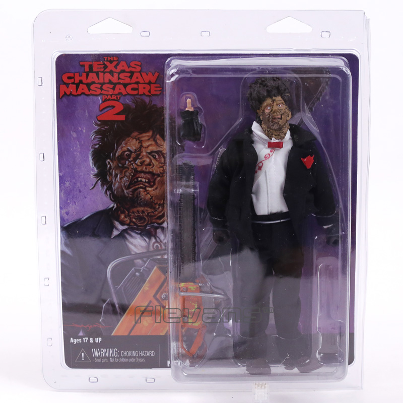 NECA The Texas Chainsaw Massacre 2 PVC Action Figure Collectible Model Toy 8inch 20cm neca the terminator 2 action figure t 800 endoskeleton classic figure toy 718cm 7styles