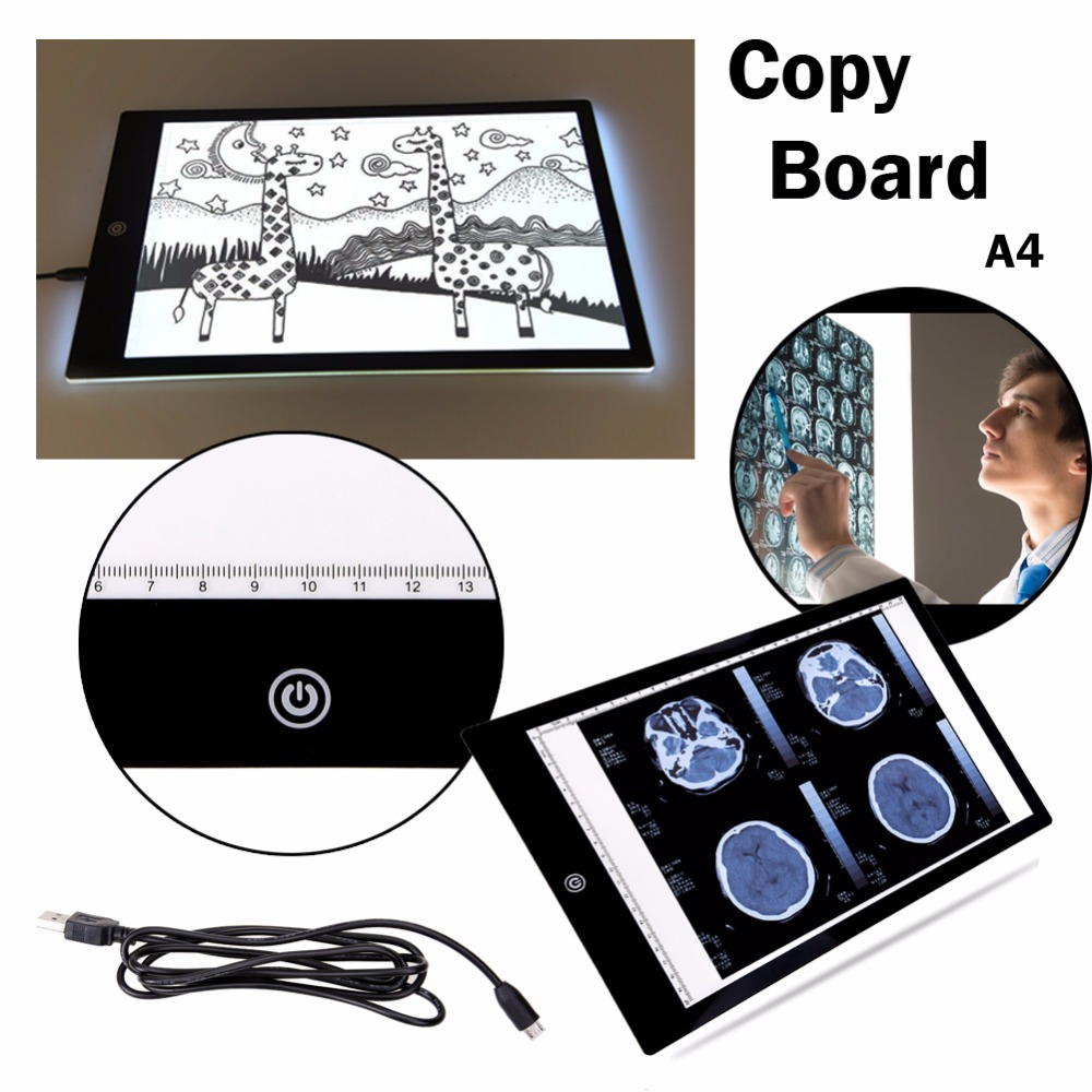 Craft light box for tracing - Ultra A4 Slim Light Box Touch Led Light Pad Acrylic Copy Tracing Board Art Craft Stencil Tracing Tattoo Graphic Pad Copy Board