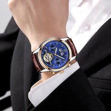 Man Leather Business Wrist watch LIGE9803