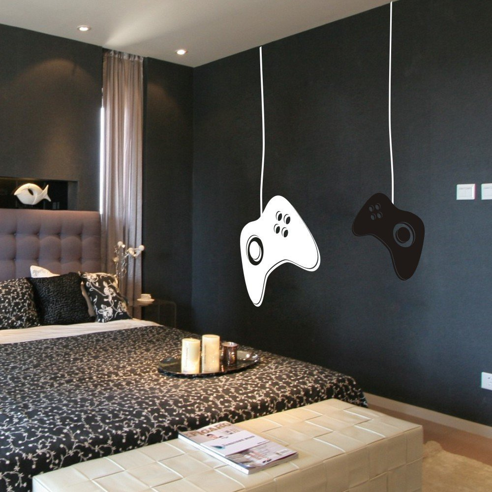 Hot Selling Gamer Vinyl Wall Decal Game Controllers Boys ...