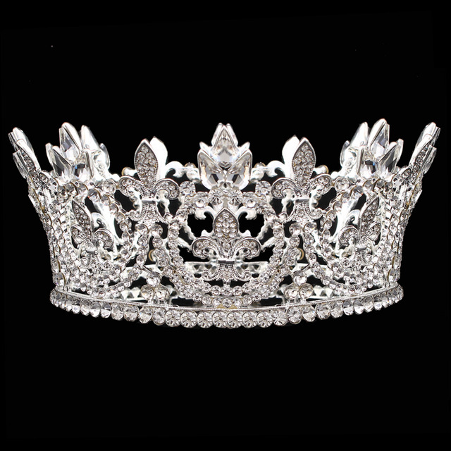 Iris Flower Crown Tiara Wedding Bride Womens Vintage Tiaras Royal Crowns Hair Jewelry