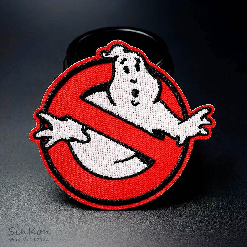 Ghost (Размеры: 8,0x9,0 см) приклеивающиеся утюгом нашивки Вышивание на вышитой аппликацией: ткани для мужских пиджака знак одежда наклейки