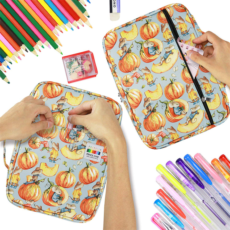 Image 2 - 216 Slots Large Capacity Pencil Bag Case Organizer Cosmetic Bag For Colored Pencil Watercolor Pen Markers Gel Pens Great Gifts-in Pencil Bags from Office & School Supplies