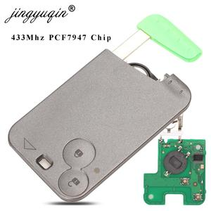 Image 1 - Jingyuqin 2 כפתור מרחוק מפתח PCF7947 שבב 433Mhz חליפת עבור רנו לגונה Espace 2001 2006 חכם כרטיס מרחוק fob רכב סטיילינג