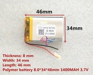 Image 2 - Liter energie batterij 3.7 V lithium polymeer batterij 803446 083446 1400 mAh GPS MP3 MP4 speaker onderwijs machine