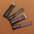 Durable plegado hebilla de despliegue Genuina correa de cuero de ancho de banda de 20mm 22mm 24mm correas de reloj de reemplazo accesorios