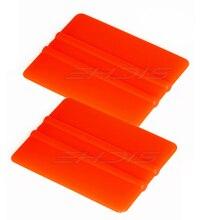 EHDIS 2 pcs สีส้มไม้กวาดมีดโกนน้ำแข็งรถ Window Tint เครื่องมือไวนิลฟิล์มห่อเครื่องมือรถบ้านทำความสะอาดมือเครื่องมือ A06