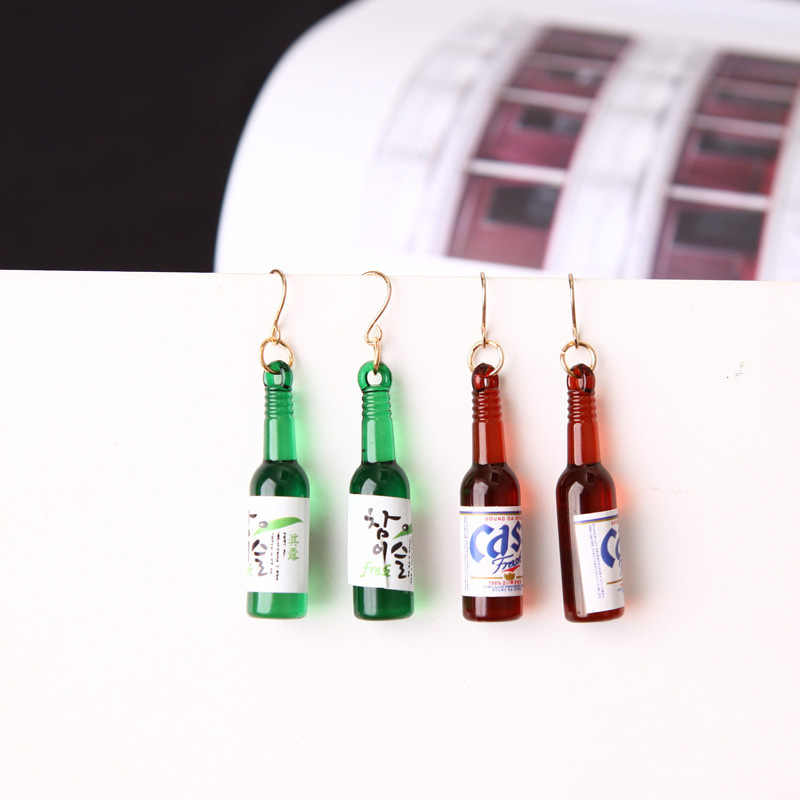 New Earrings Personality Simple Fashion Beer Bottle Creative Earrings Design  Earrings For Women Jewelry Wholesale
