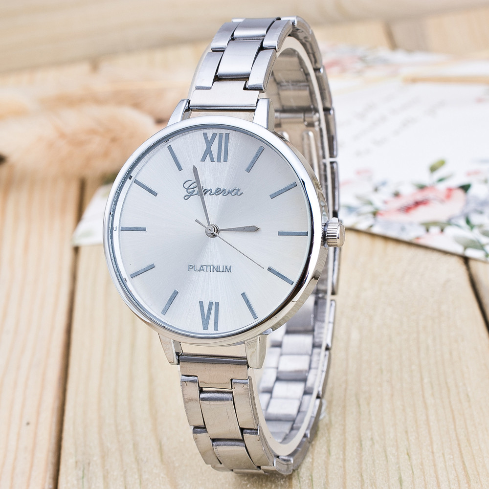 2018 Fashion Womens Watches Geneva Roman Number Stainless Steel Analog Rose Gold Quartz Wrist Watch Ladies Dress Watch &Ff2018 Fashion Womens Watches Geneva Roman Number Stainless Steel Analog Rose Gold Quartz Wrist Watch Ladies Dress Watch &Ff
