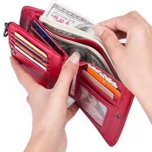 Image 4 - ติดต่อ 2020 กระเป๋าสตางค์สตรีหนังแท้กระเป๋าสตางค์ขนาดเล็กและกระเป๋าแบรนด์หรูกระเป๋าเหรียญเงินกระเป๋าการ์ดผู้ถือ