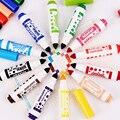 12 шт./компл. красочные акварельные ручки мини маркеры Флуоресцентные Ручки для студентов канцелярские принадлежности для офиса и школы