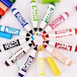 12 sztuk/zestaw kolorowe akwarela długopis Mini wyróżnienia pióra fluorescencyjny długopis dla studentów malarstwo piśmienne biuro szkolne Kredki    -