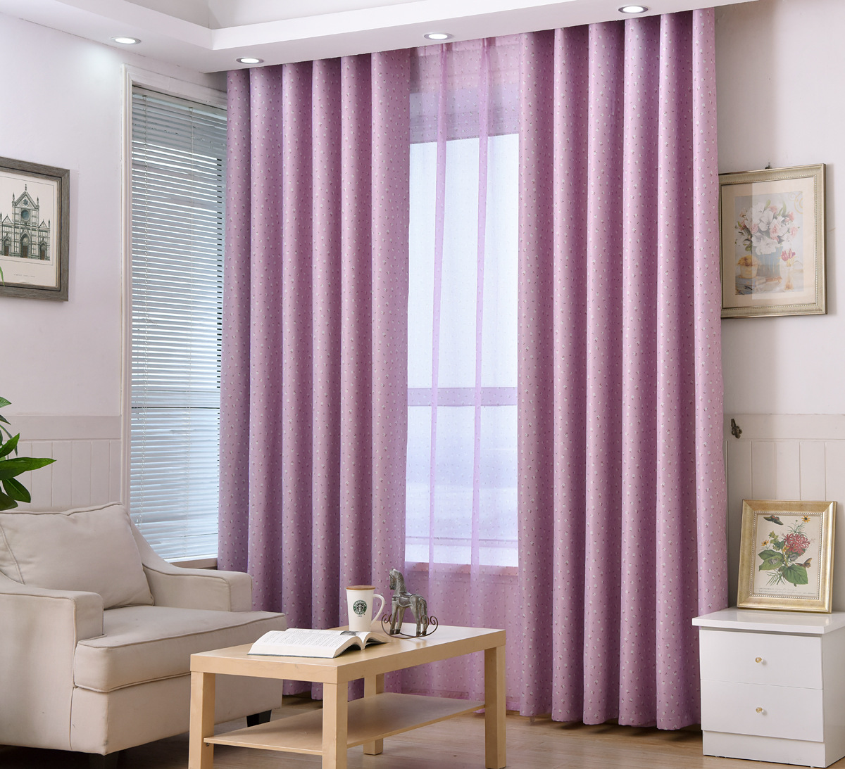 Pink Curtains For Bedroom Aliexpresscom Buy Myru Pastoral Style Little Flowers Curtains