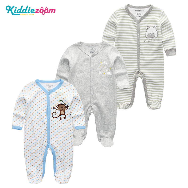 2018 Baby Clothing Newborn Boy&Girl Rompers Clothes 100%Cotton Full Sleeve Infant Product  0-12M Cartoon Roupa de bebe Pajamas