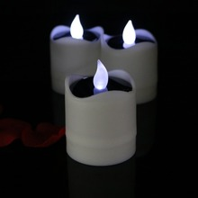 6 Pcs Solar Candle Flameless Led Candles Flickering Outdoor Sun Power Rechargeable Electric Home Wedding Birthday Party Decorate