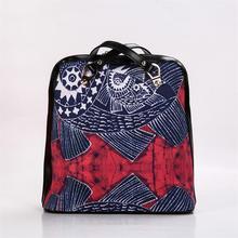 Beivah Марка китайский стиль цифровой печати рыбы девушки рюкзак женская сумка на плечо Девушки populer Мешок Bolsa Feminina