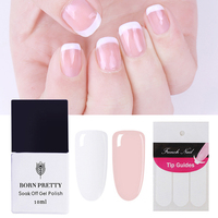 2 Bottles BORN PRETTY White Color Nail Gel French Manicure Tip Set ...