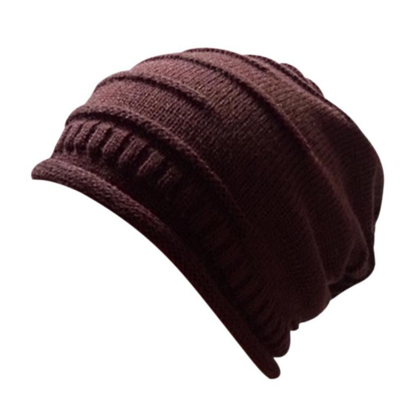 New Design Sports Caps Outdoor Solid Men Women Winter Hat Knitted Sweater Cap