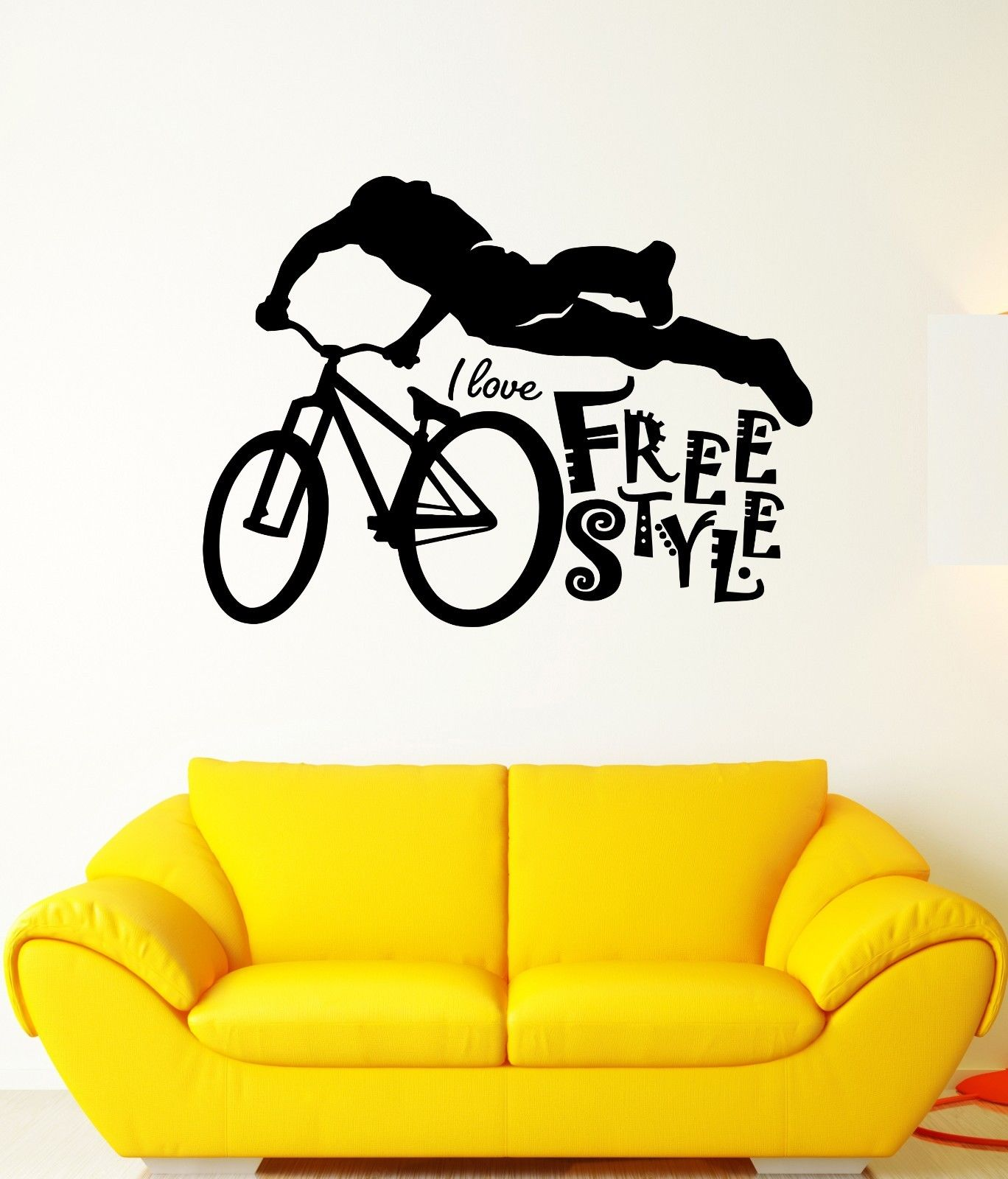 Aliexpress.com : Buy sport house Wall Decal Free Style Bicycle Sport ...