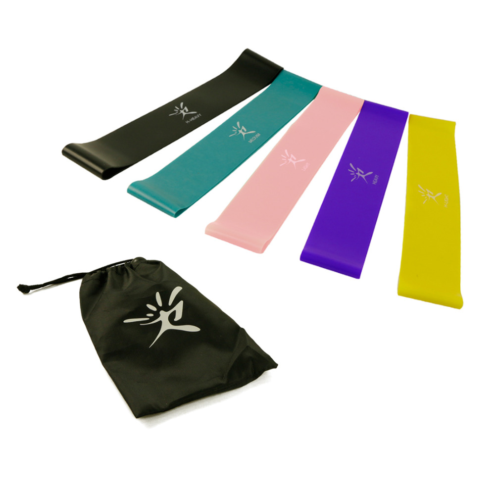 Resistant Elastic Band Loop Set Eco-Friendly Latex for Yoga Pilates Home Fitness Exercise Physical Power and Flexibility