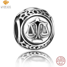 Wybeads 100% 925 cuentas de plata esterlina libra muestra de la estrella europea encantos de bolas de ajuste pulsera brazalete original fabricación de joyas