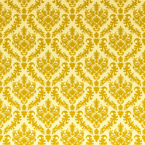 HUAYI Yellow Damask Photography Backdrops Gold Wallpaper Girls Backdrop For Studio Fabric Background D9980
