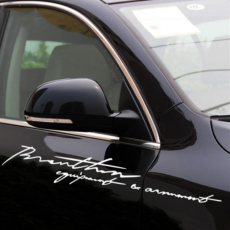 PERSONALITY signature decals,car-styling vinyl PVC glue sticker,DIY car refit accessories cover sticker  sticker