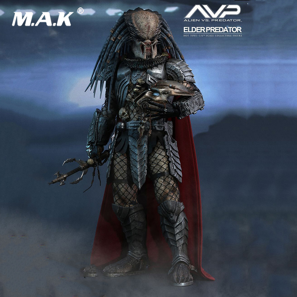 1/6 Scale Full Set Elder Predator Action Figure AVP HT MMS325 Hot Toys Doll Model Gift Box Set for Fans Collection Gift for collection full set action figure model fs 73005 1 6 us us delta special forces 1st sfod d figure model toys for fans gift