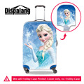 Muito Elastic Mulheres Viajam Saco Capa Protetora Elsa Princesa Cobertura de Bagagem Dos Desenhos Animados Meninas Da Moda Acessórios de Viagem À Prova D' Água