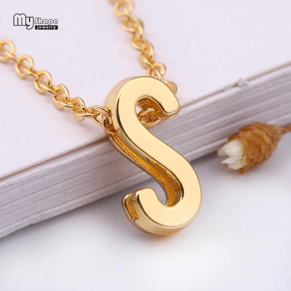 Mój kształt moda kapitału założycielskiego zawieszka w kształcie litery oświadczenie naszyjnik ze stopu cynku nazwa choker łańcuszek dla kobiet prezent biżuteria