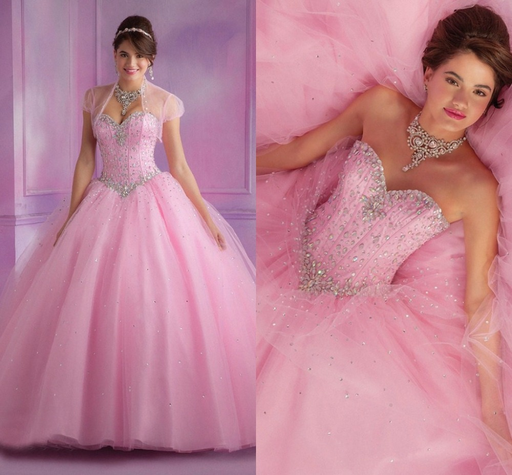 Princess pink wedding gowns