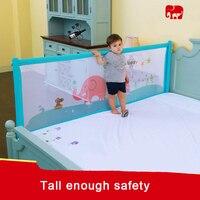 Большой детская кровать железнодорожных bedrail маленьких Сафти спать кровать гвардии 180 200 см