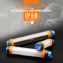 Magnet Tactical Torch Flashlight Rechargeable Powerbank Camping Light Waterproof Multifunction Anti Mosquito Wolf Stick