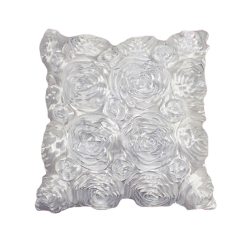 Fashion Floral Satin Pillowcase Decorative Satin Throw Sofa Pillow Case Cushion Home Pillowcase Cover Bed Pillowcases 40AP24 (6)